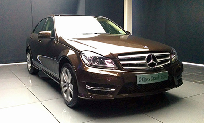 Mercedes benz unveils the c class grand edition for How much is a mercedes benz c class