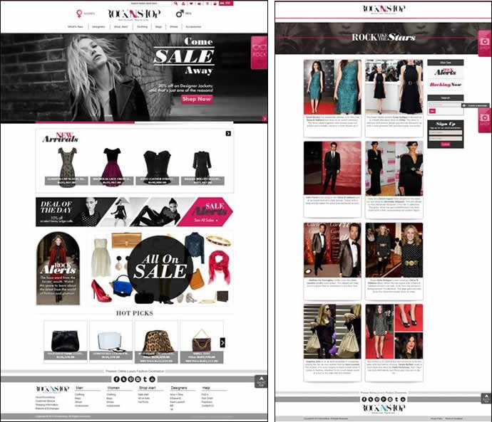 Rock n shop the premier online luxury fashion destination for Name of online shopping websites
