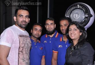 Zaheer khan with Amit mishra, Imaran tahir and Chidhambaram gautam