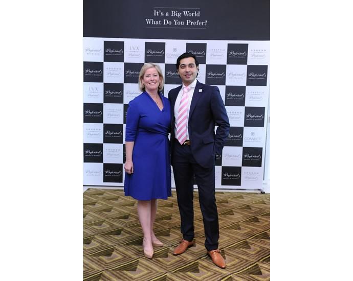(L to R)- Ms. Lindsey Ueberroth & Mr. Saurabh Rai