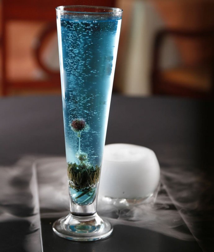 Sky does some deadly cocktails too- the punny Blu-Ming Lagoon
