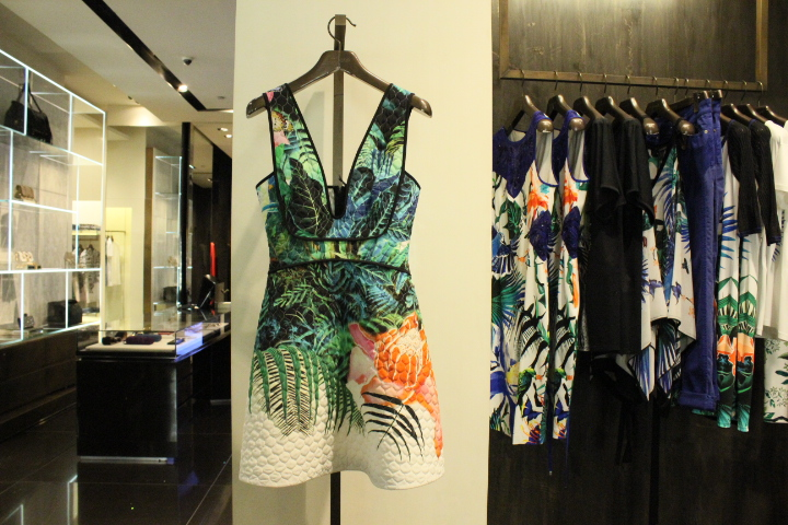 Emporio-Cavalli-tropical-print-dress