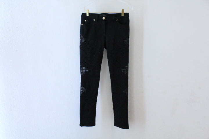 Emporio-Versace-mesh-inlay-pants