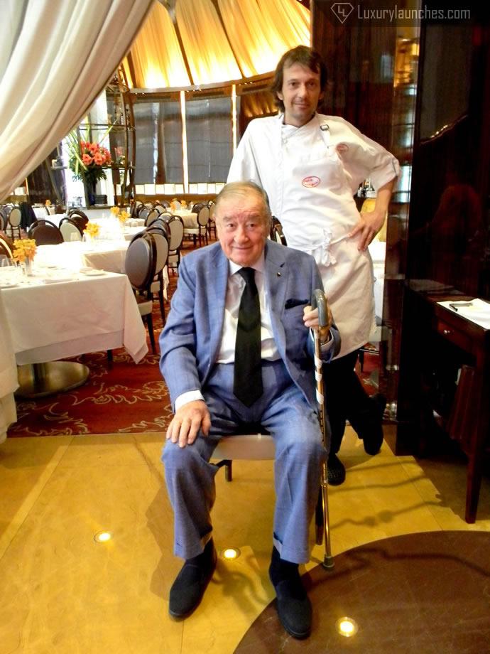 Chef Matteo Boglione With The Legend, Sirio Maccioni
