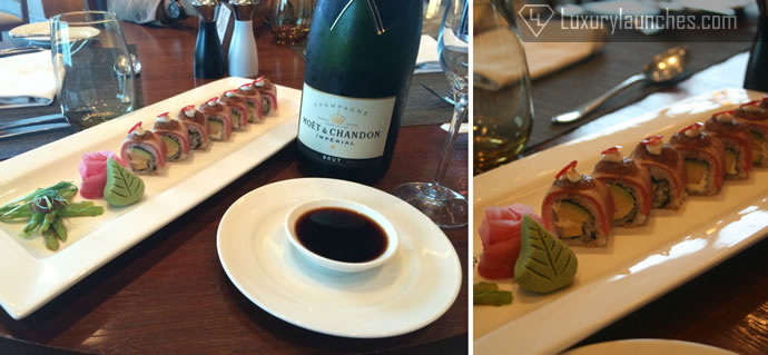 Sushi from the buffet spread – Moet & Chandon Pairing