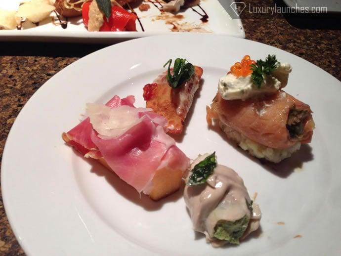 Caviar, cantaloupe and cream