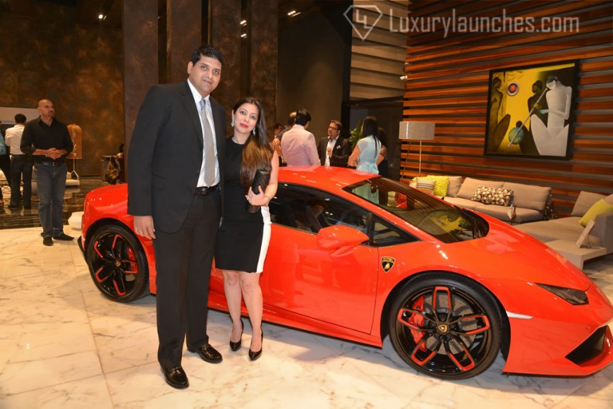Samvit Tara (Managing Director - Roche Bobois India ) with wife Alesha Tara