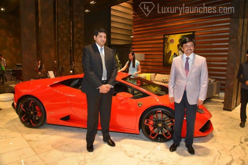 Samvit Tara (Managing Director -Roche Bobois India) and Abhijeet Pandit (Group CEO Autohangar)