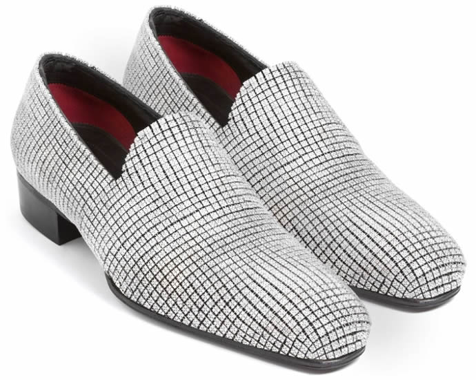 Diamond Crusted Loafers for men