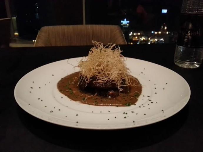 Grilled Portobello with Black Truffle Sauce