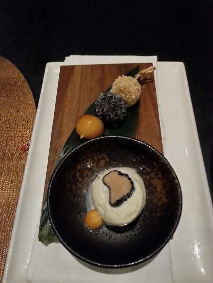 Sea Salt & Truffle Ice Cream with Tofu Dango: Intense and interesting.