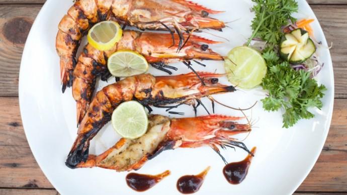Llyod's tiger prawns with Goan recheado spices