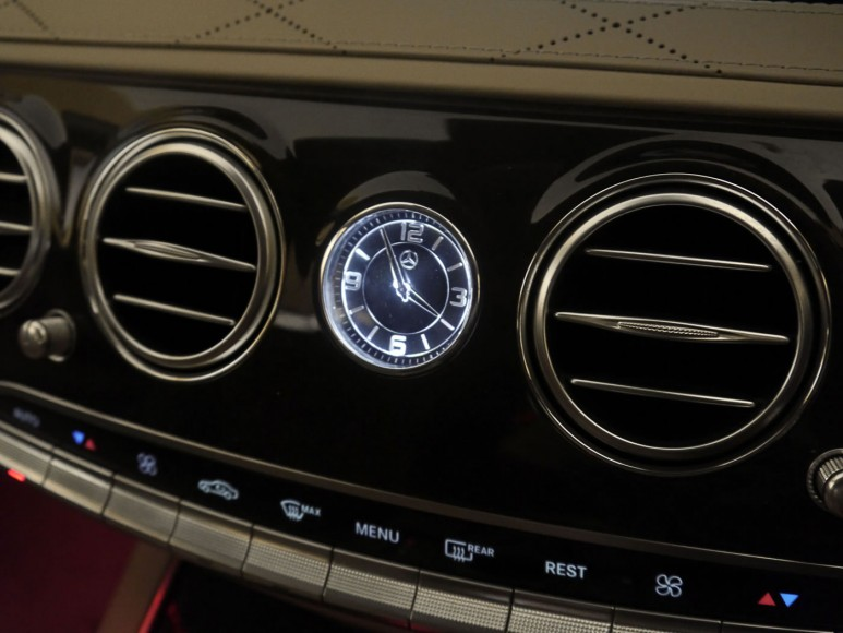 All the knobs and switches are bespoke for the S-Class.