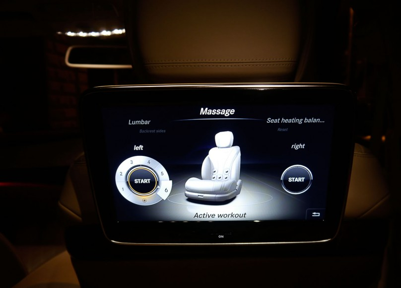 Nothing like getting a massage at the backseat of a Mercedes limo.