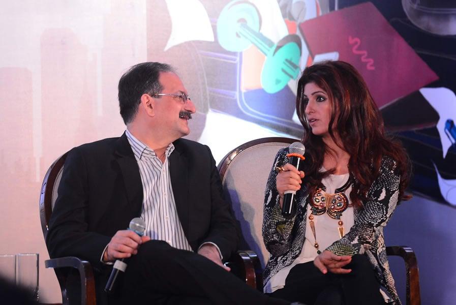 Dr. Nozer Sheriar and Twinkle Khanna