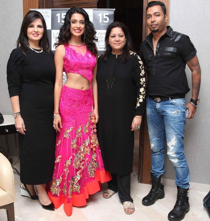 L-R - Designer Neeta Lulla, Sarah Jane Dias, Sushma Khan and Shailesh Moolya