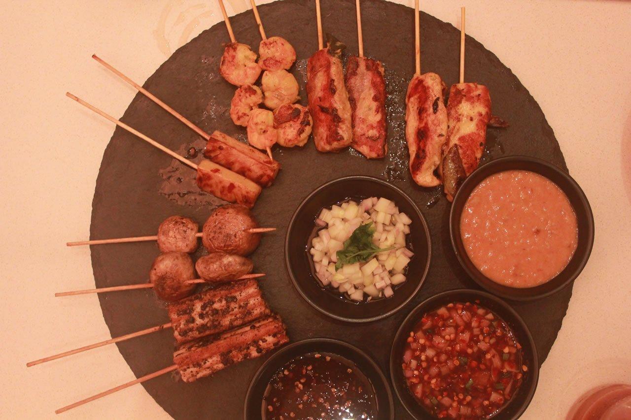 Satay platter