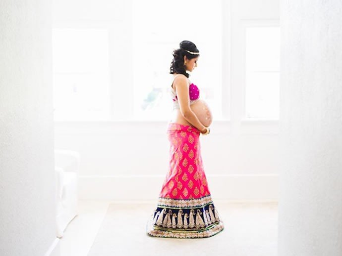 indian inspired maternity photos 2