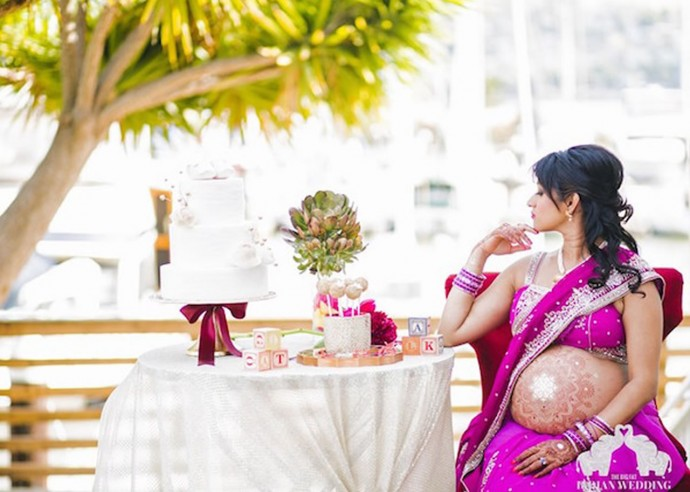 indian inspired maternity photos 4