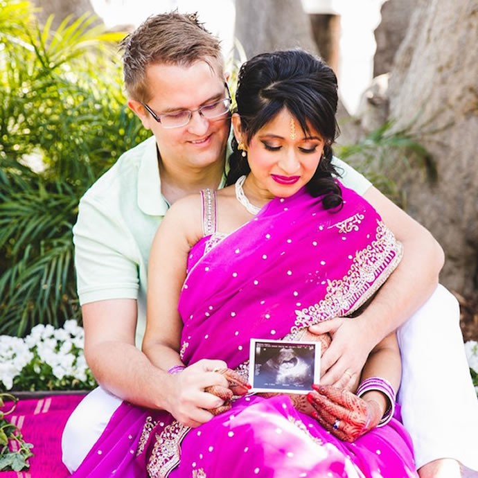 indian inspired maternity photos 5