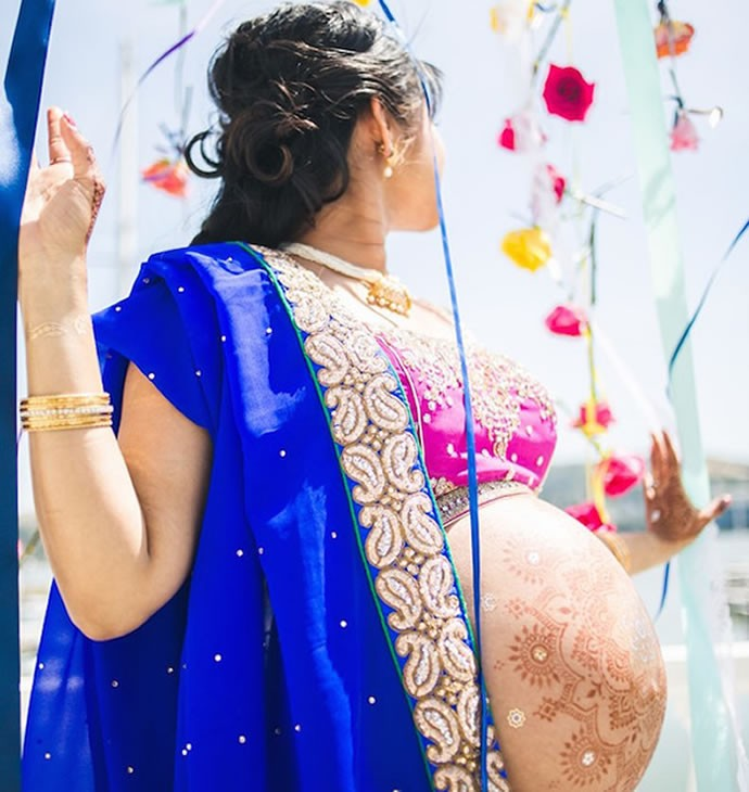 indian inspired maternity photos 6
