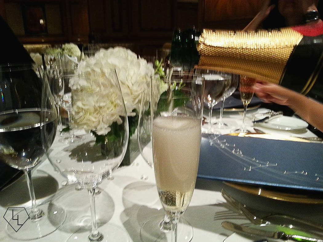 Moet on the menu: Celebratory bubbly to toast the Zodiac grill's 26 years of success.