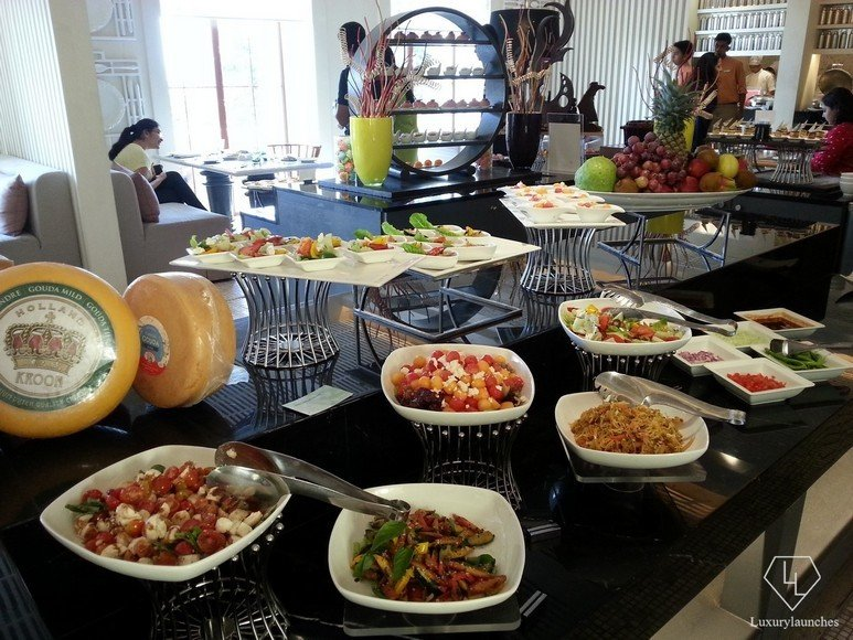 A variety of salads in the Latest Recipe buffet