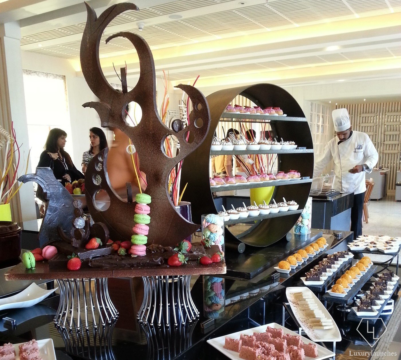 Array of desserts in the Latest Recipe buffet