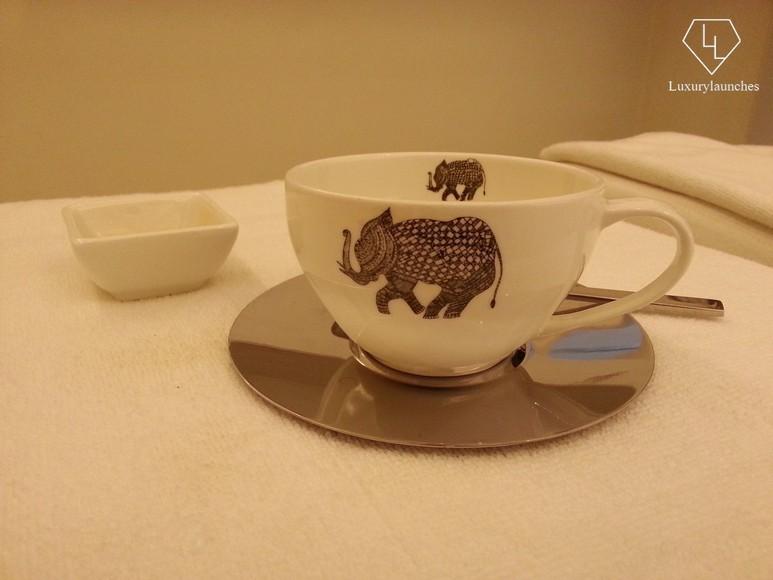 Lemon tea with honey after the spa treatment