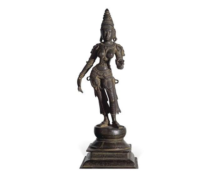 a_bronze_figure_of_Parvati__Chola_period__12th_century