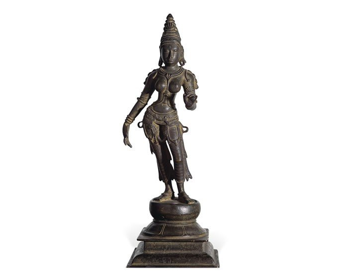 A 12th Century Parvati Chola bronze figure