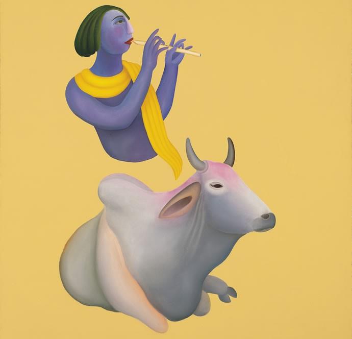 'Krishna' by Manjit Bawa