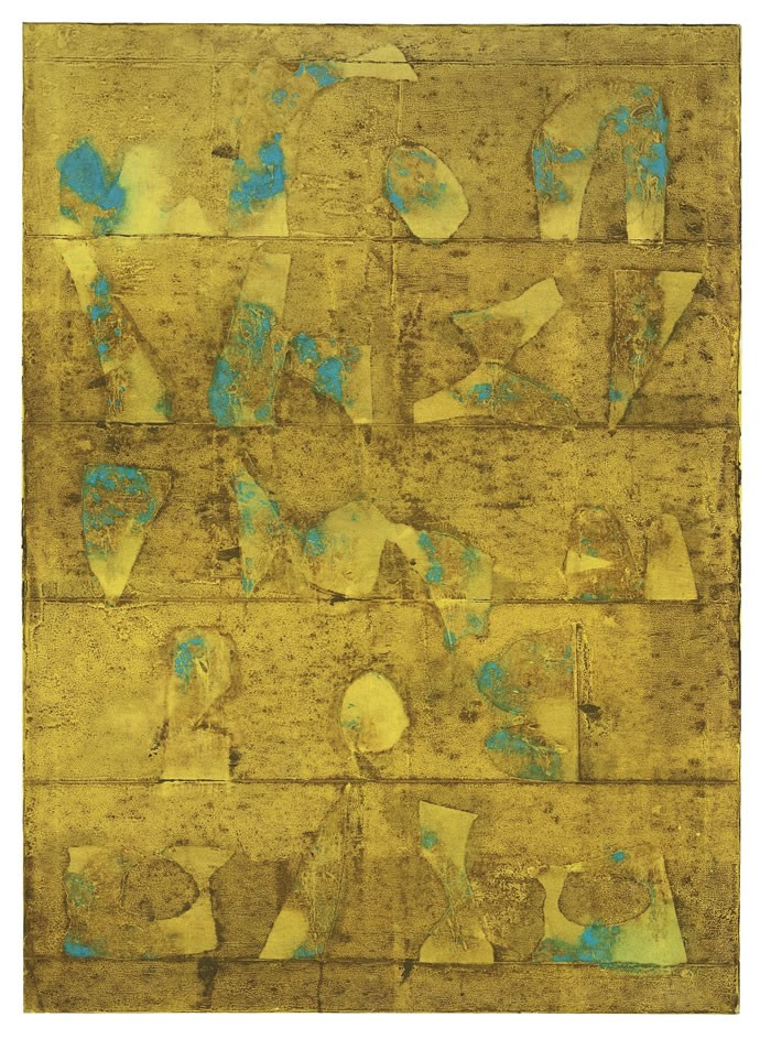 The untitled Gaitonde painting from this year's auction