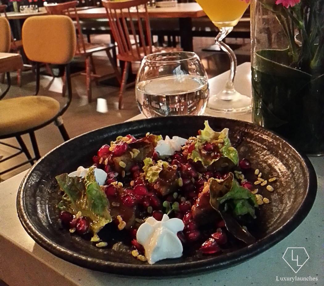 Dalim Shakarkandhi & Passion Fruit Chutney Martini