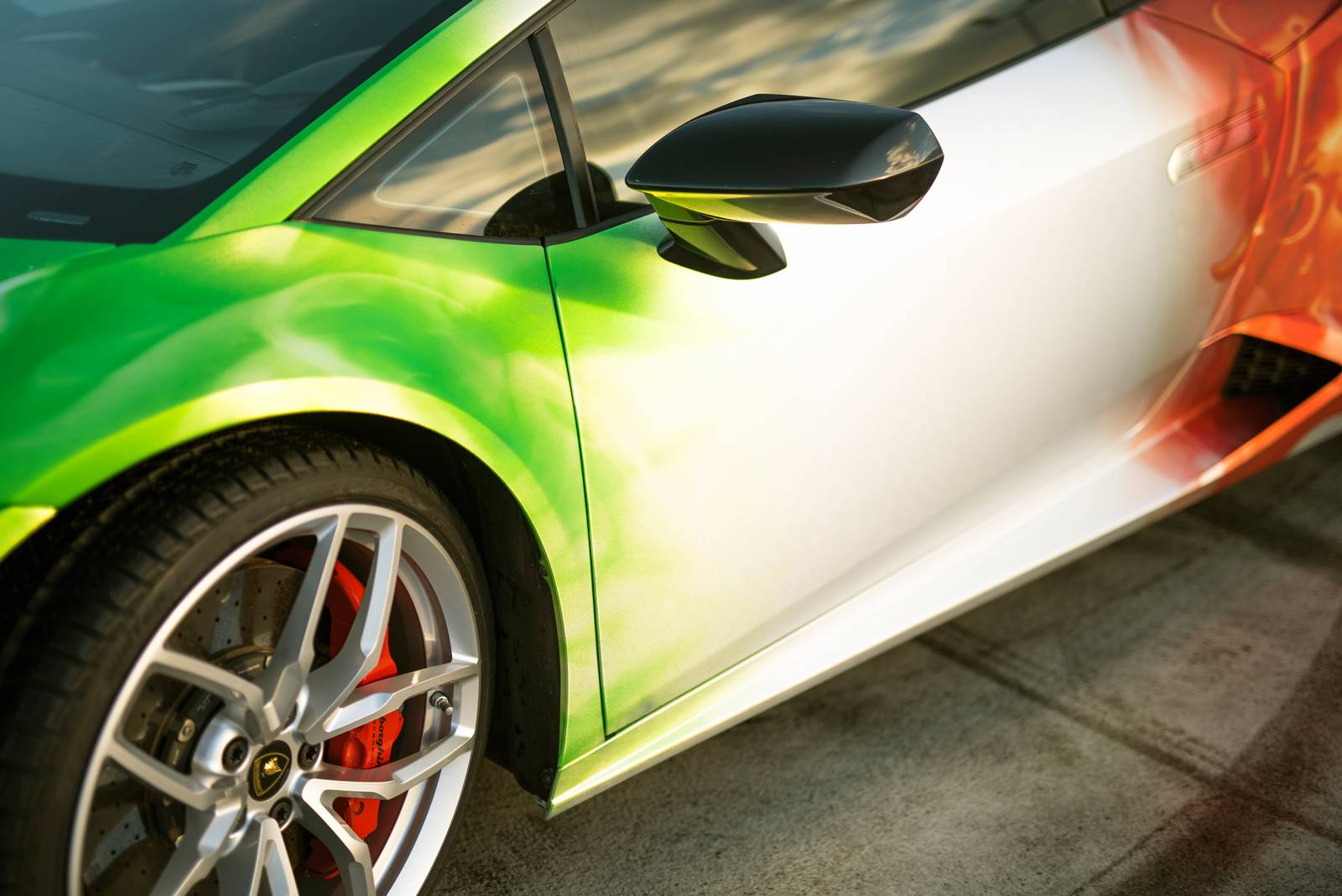 Print Tech Wraps The Lamborghini Huracan In Tricolour Flames