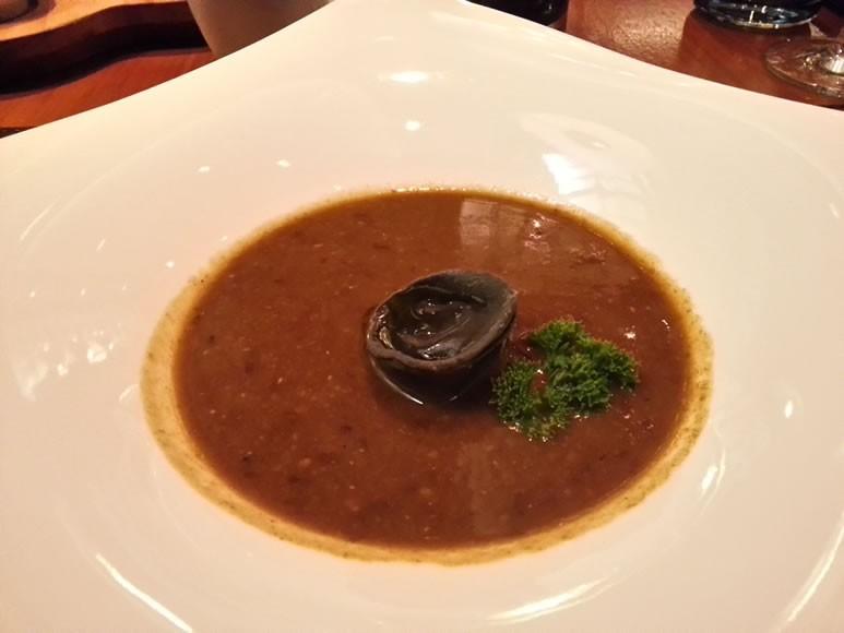 Black Bean Soup with Gorgonzola Tortellini