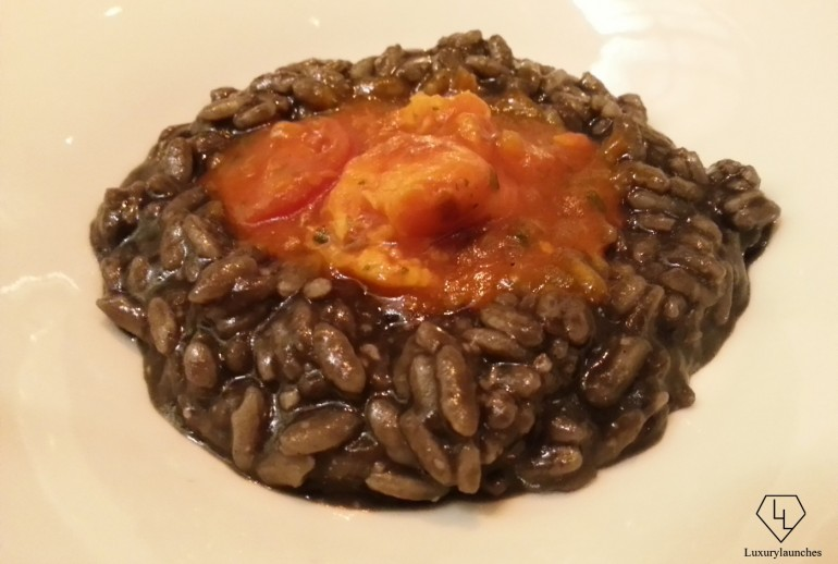 Black Squid Ink Risotto with Lobster