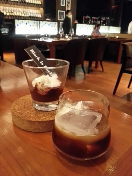 Dessert with a Sambuca-laced Black Russian