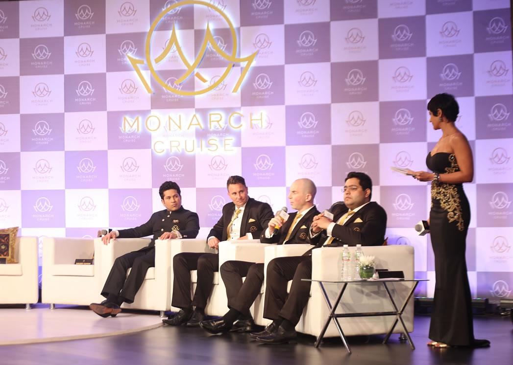 L to R - Sachin Tendulkar, Shane Hodgens, Chairman, Monarch Cruise, Josh.