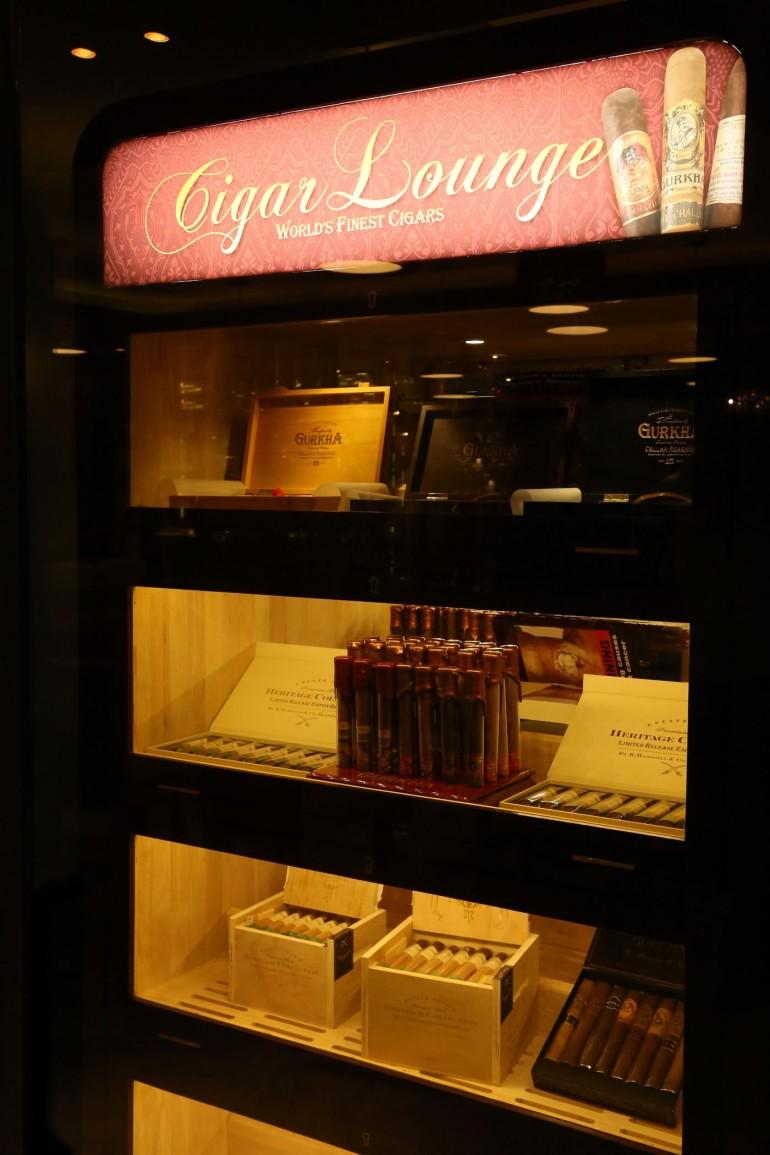 Cigar at a display - Cigar Lounge, Sofitel Mumbai BKC_02
