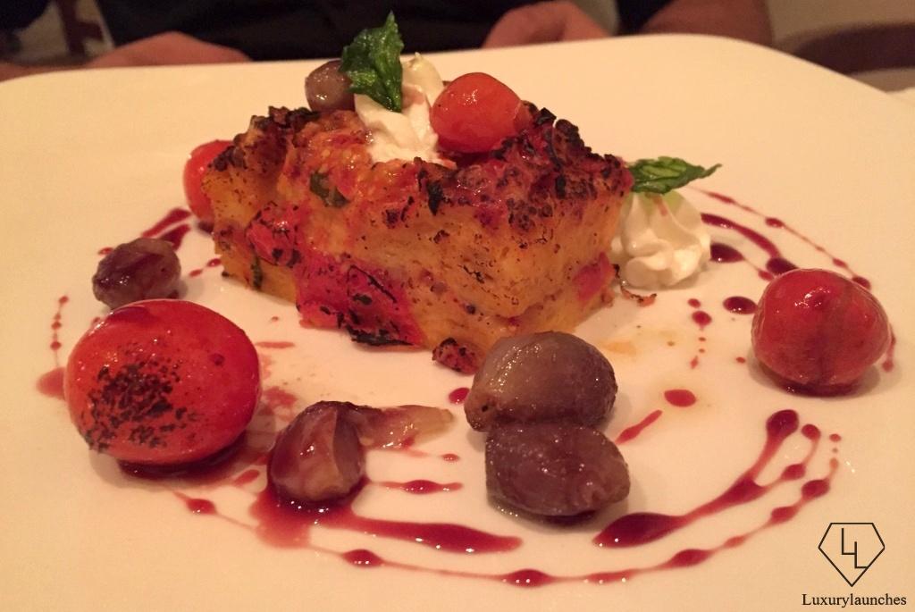 Tomato Brioche Pudding