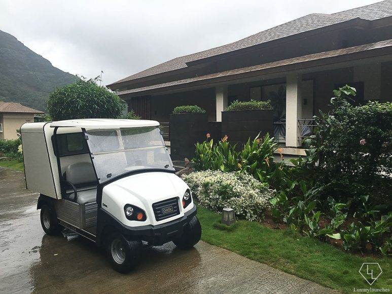 Golf buggies to take me around on a rainy day.
