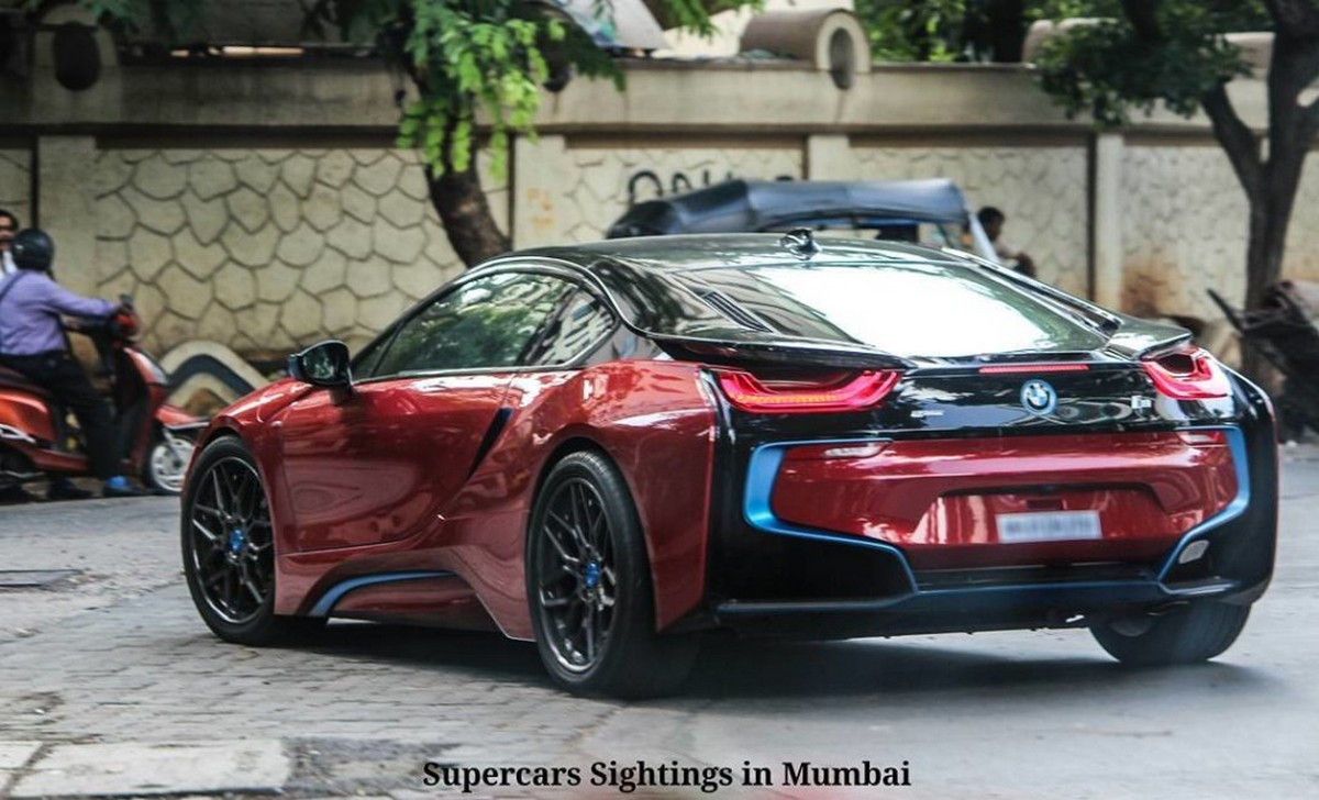sachin tendulkar paints his bmw i8 a blood red. Black Bedroom Furniture Sets. Home Design Ideas
