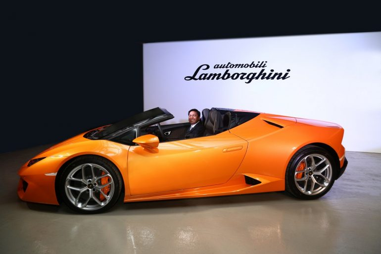 lamborgini huracan spyder the drop top beauty comes to india. Black Bedroom Furniture Sets. Home Design Ideas