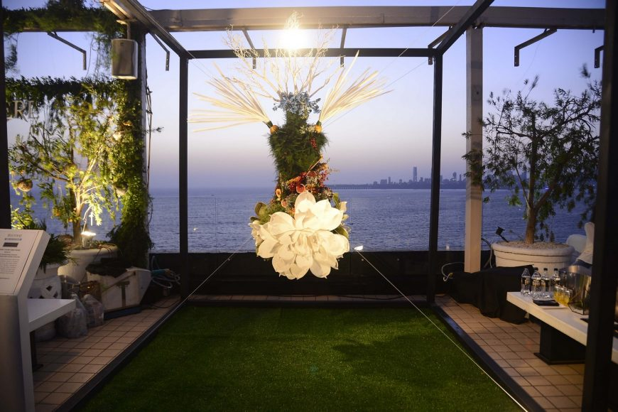 Art Installation created by designers Falguni & Shane Peacock for Belvedere India at the Belvedere Relearn Natural Party