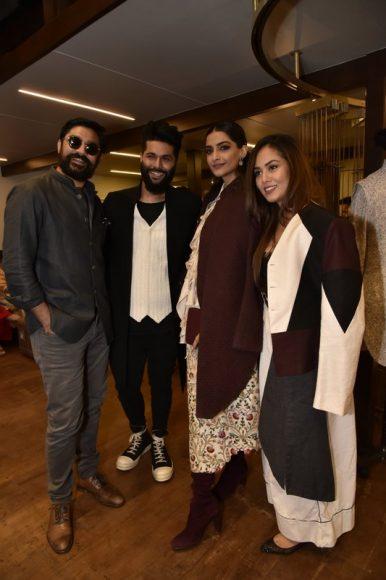 Karan Boolani, Kunal Rawal, Sonam Kapoor, Mira Kapoor