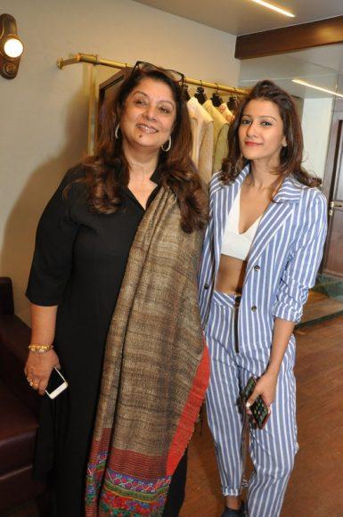 Sasha Rawal with mother