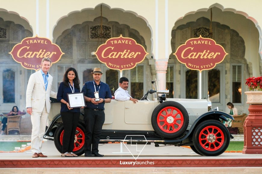 1922 Ansaldo-Tipo F owned by Mr. Nitin Dossa. Presented by chief judge Simon Kidston (in white)