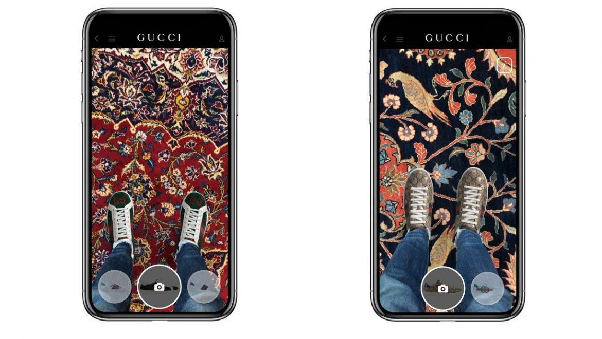 09ba1ce3a What if we told you, you could try on a pair of Gucci sneakers right in the  comfort of your own home, would you believe us? You absolutely should!