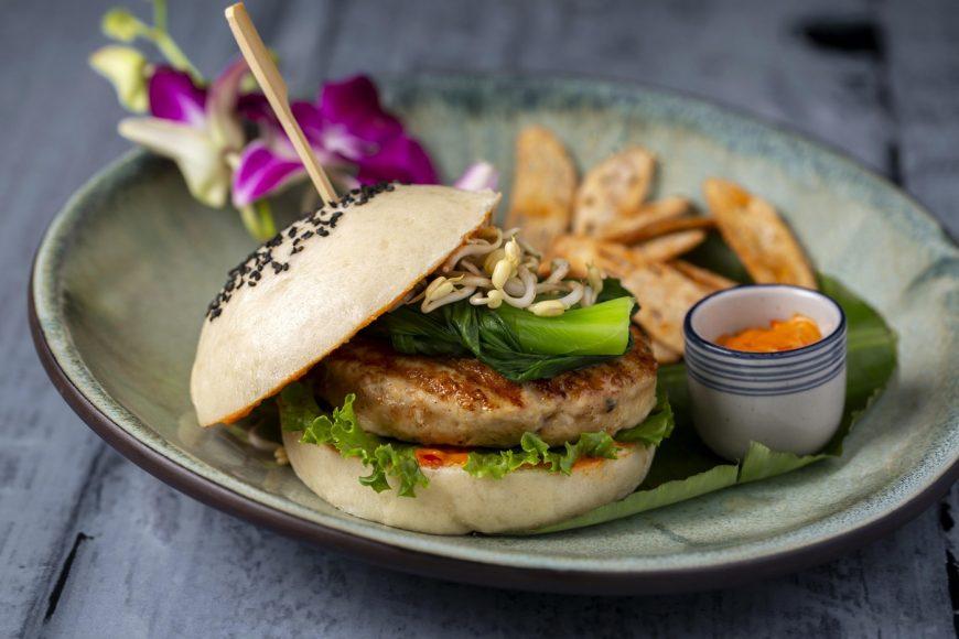 Pan - Asian Veggie Burger - Baraanaa, World Cocktail Bar and Kitchen